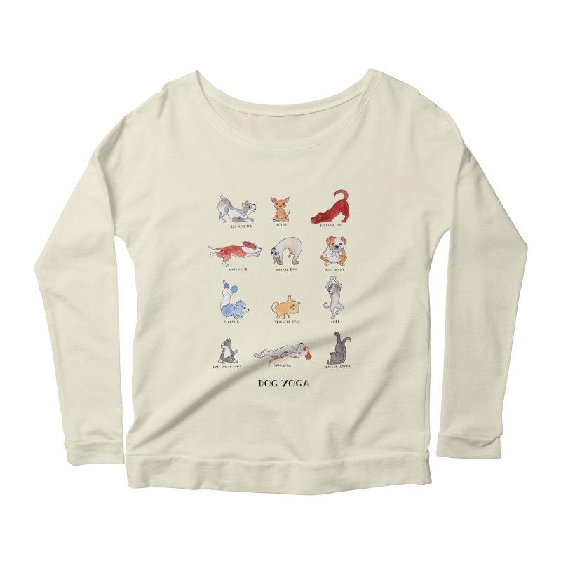 Dog Yoga Women's Scoop Neck Longsleeve T-Shirt by Jodilynn Doodles's Artist Shop