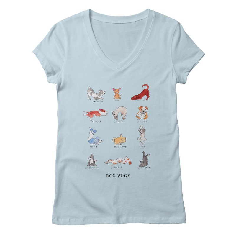 Dog Yoga Women's Regular V-Neck by jodilynndoodles's Artist Shop