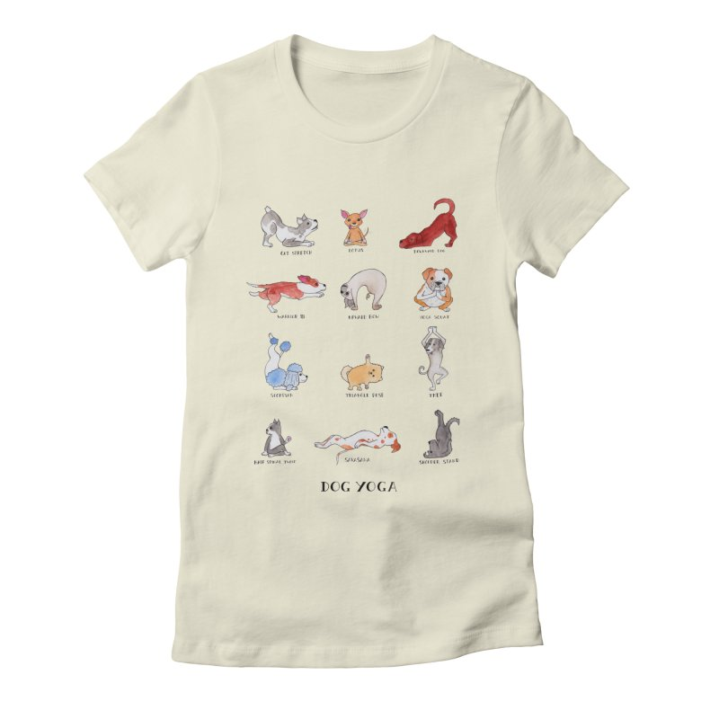 Dog Yoga Women's Fitted T-Shirt by jodilynndoodles's Artist Shop
