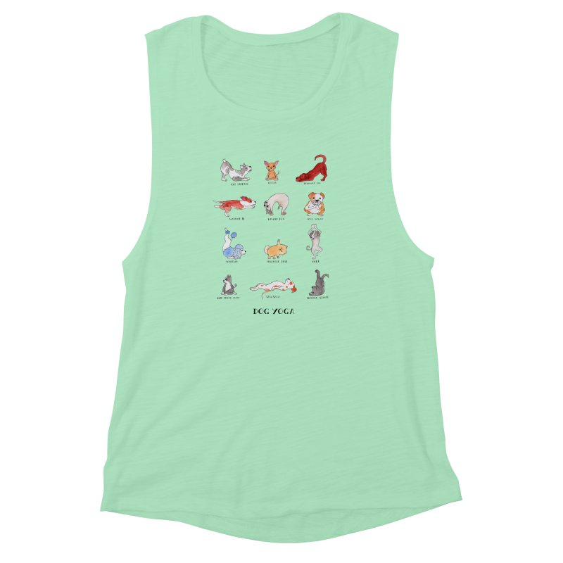Dog Yoga Women's Muscle Tank by Jodilynn Doodles's Artist Shop