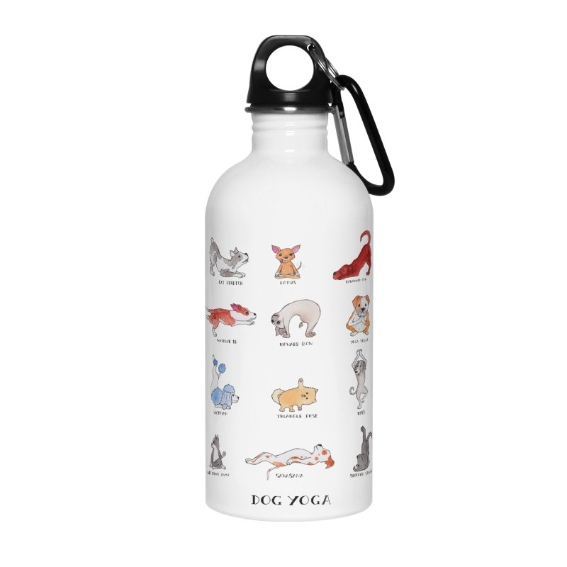 Dog Yoga Accessories Water Bottle by jodilynndoodles's Artist Shop