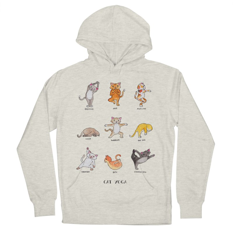 Cat yoga Women's French Terry Pullover Hoody by jodilynndoodles's Artist Shop