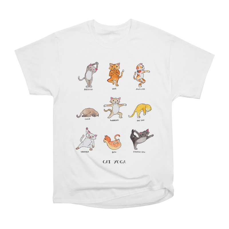 Cat yoga Men's Heavyweight T-Shirt by jodilynndoodles's Artist Shop
