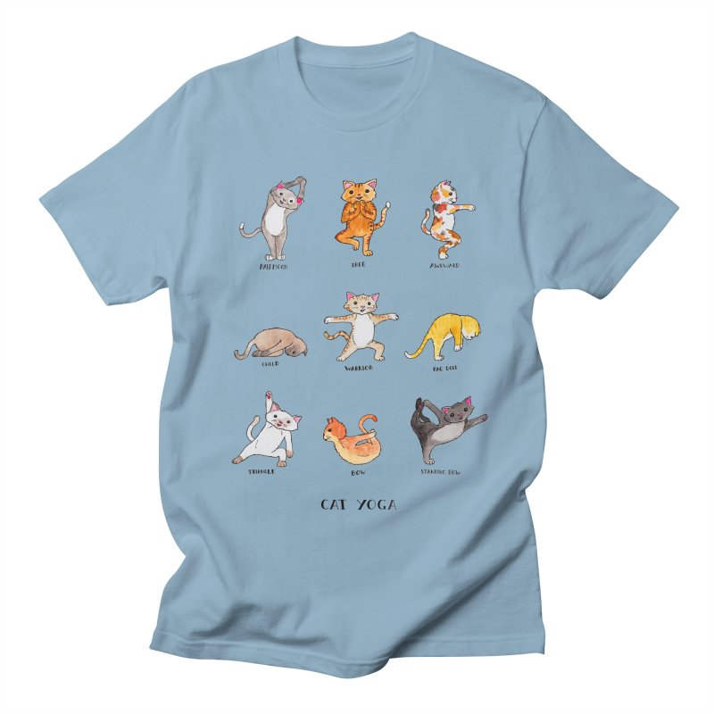 Cat yoga Men's Regular T-Shirt by jodilynndoodles's Artist Shop