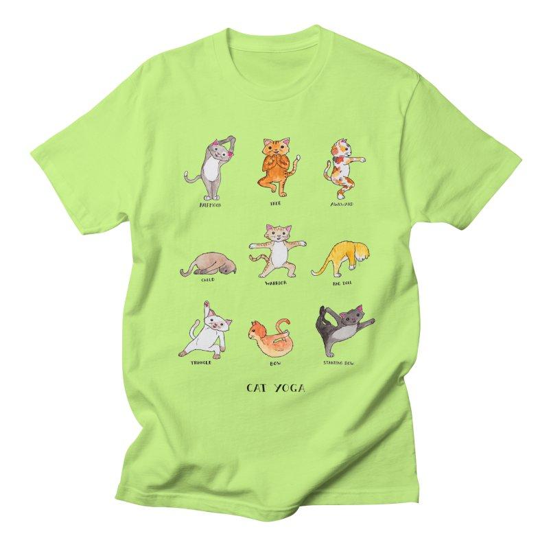 Cat yoga Men's Regular T-Shirt by Jodilynn Doodles's Artist Shop