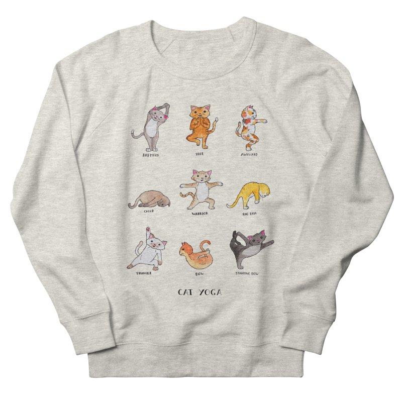Cat yoga Women's French Terry Sweatshirt by jodilynndoodles's Artist Shop