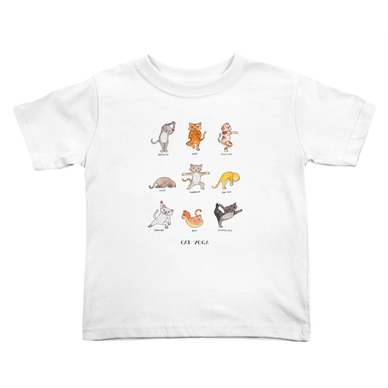 Cat yoga Kids Toddler T-Shirt by Jodilynn Doodles's Artist Shop