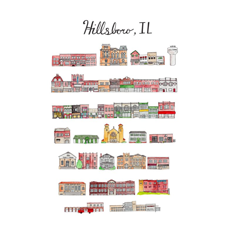 Hillsboro Illinois by Jodilynn Doodles's Artist Shop