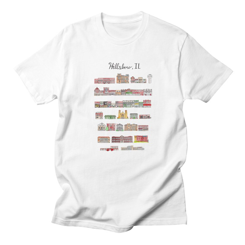 Hillsboro Illinois Men's Regular T-Shirt by jodilynndoodles's Artist Shop