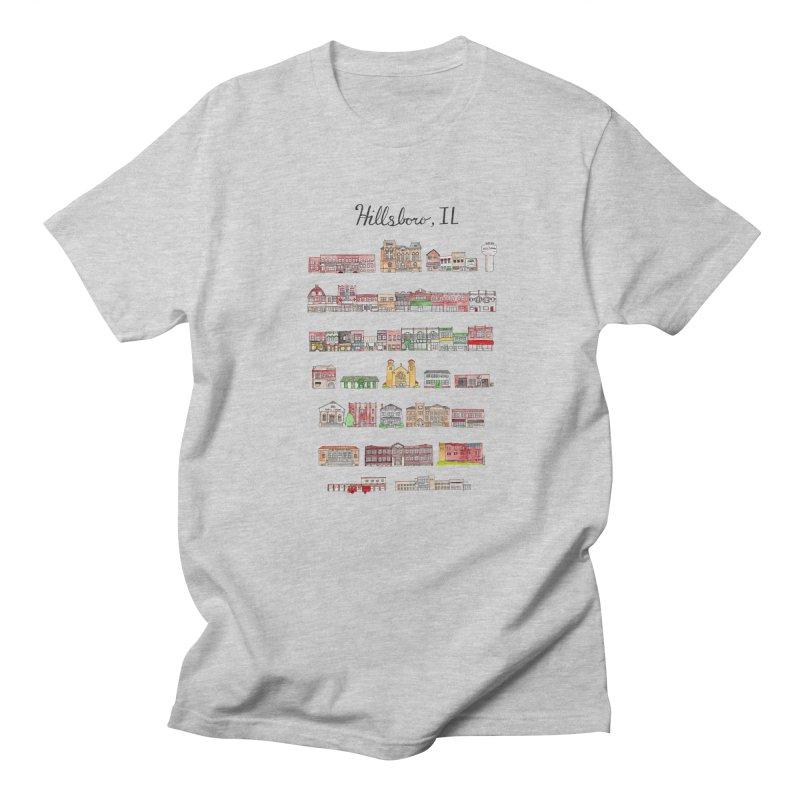 Hillsboro Illinois Men's Regular T-Shirt by Jodilynn Doodles's Artist Shop