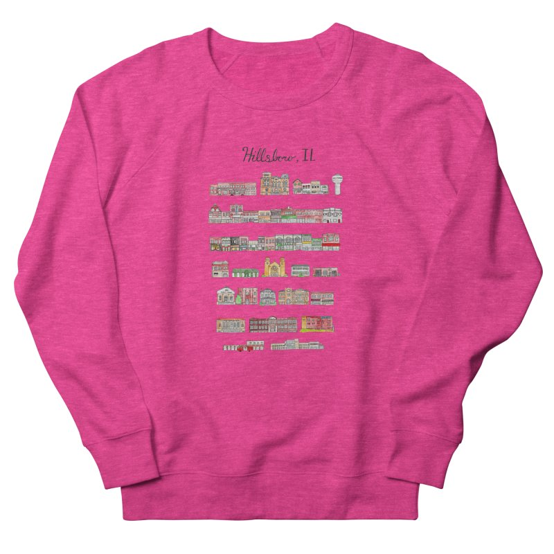 Hillsboro Illinois Women's French Terry Sweatshirt by Jodilynn Doodles's Artist Shop