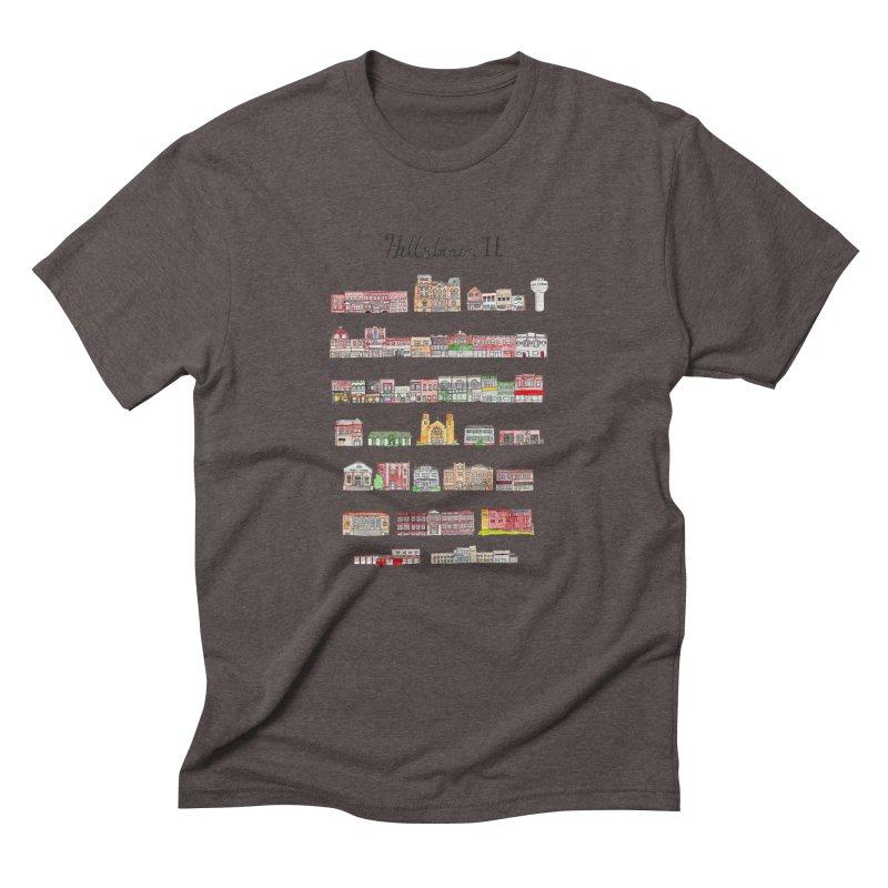 Hillsboro Illinois Men's Triblend T-Shirt by Jodilynn Doodles's Artist Shop