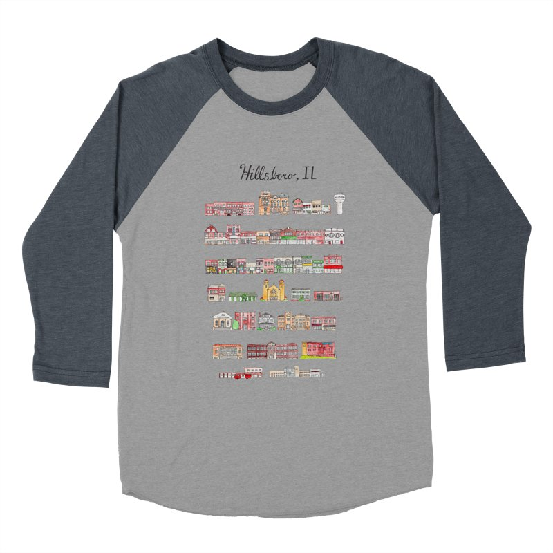 Hillsboro Illinois Women's Baseball Triblend Longsleeve T-Shirt by Jodilynn Doodles's Artist Shop