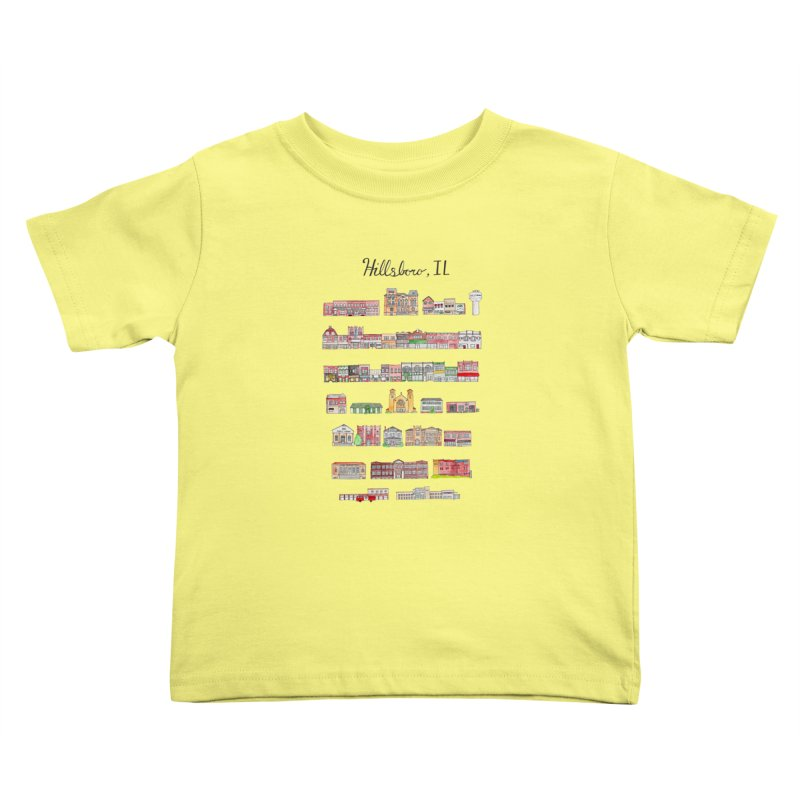 Hillsboro Illinois Kids Toddler T-Shirt by Jodilynn Doodles's Artist Shop
