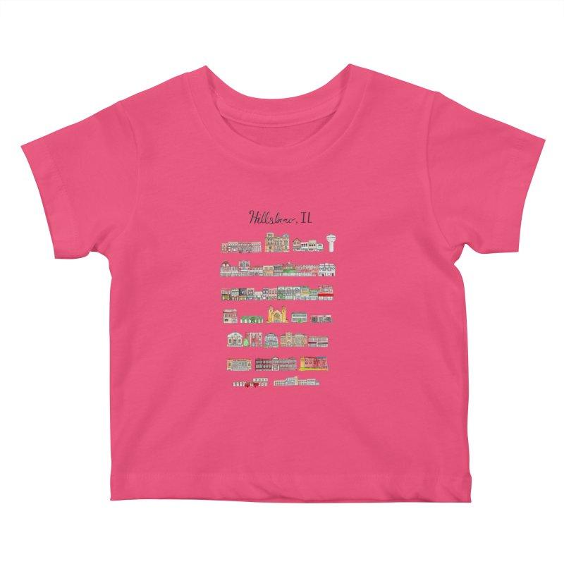 Hillsboro Illinois Kids Baby T-Shirt by Jodilynn Doodles's Artist Shop