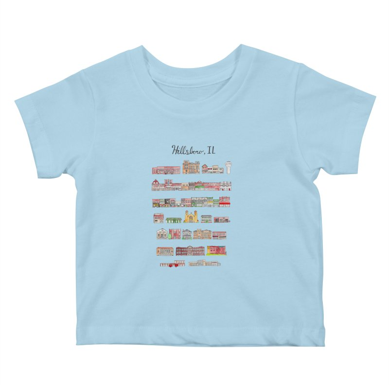 Hillsboro Illinois Kids Baby T-Shirt by jodilynndoodles's Artist Shop
