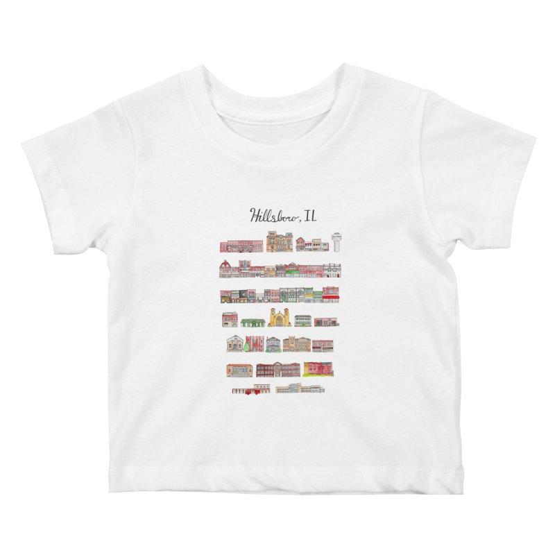 Hillsboro Illinois Kids Baby T-Shirt by jodilynndoodles's Artist Shop