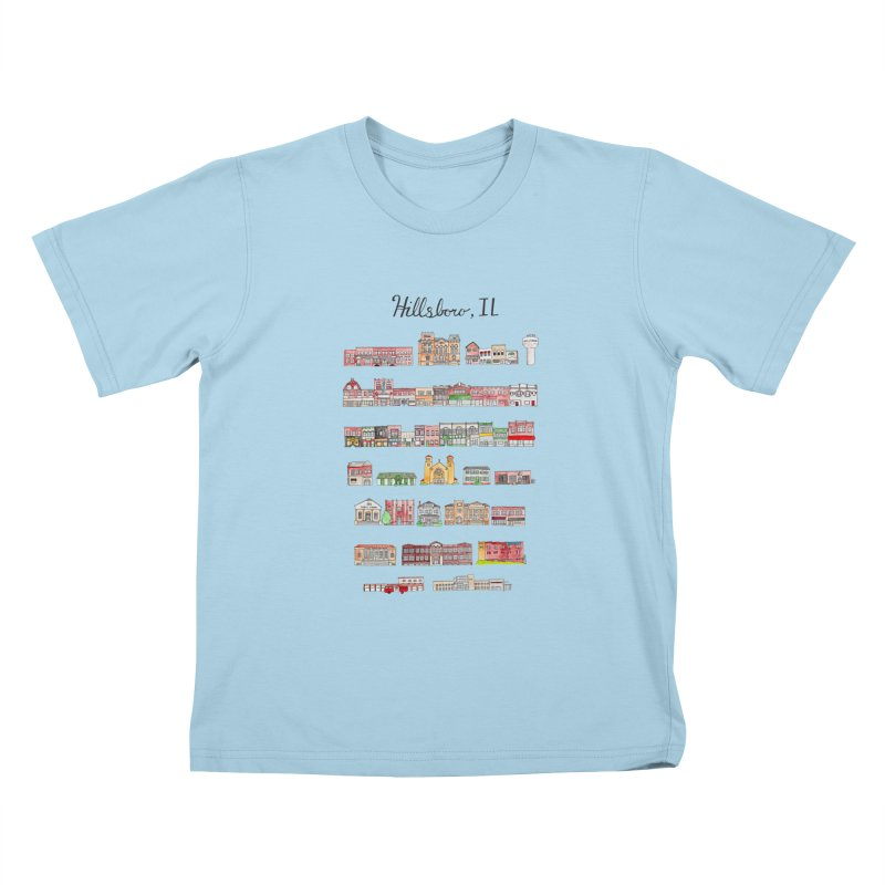 Hillsboro Illinois Kids T-Shirt by jodilynndoodles's Artist Shop