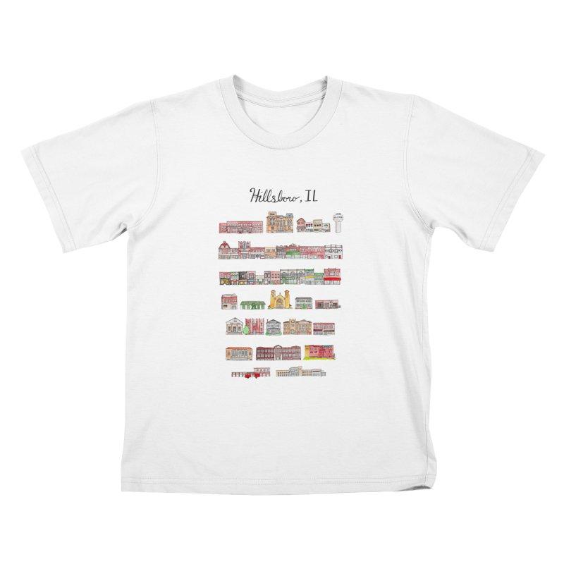 Hillsboro Illinois Kids T-Shirt by jodilynndoodles's Artist Shop
