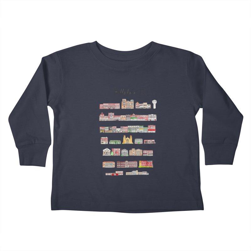 Hillsboro Illinois Kids Toddler Longsleeve T-Shirt by Jodilynn Doodles's Artist Shop