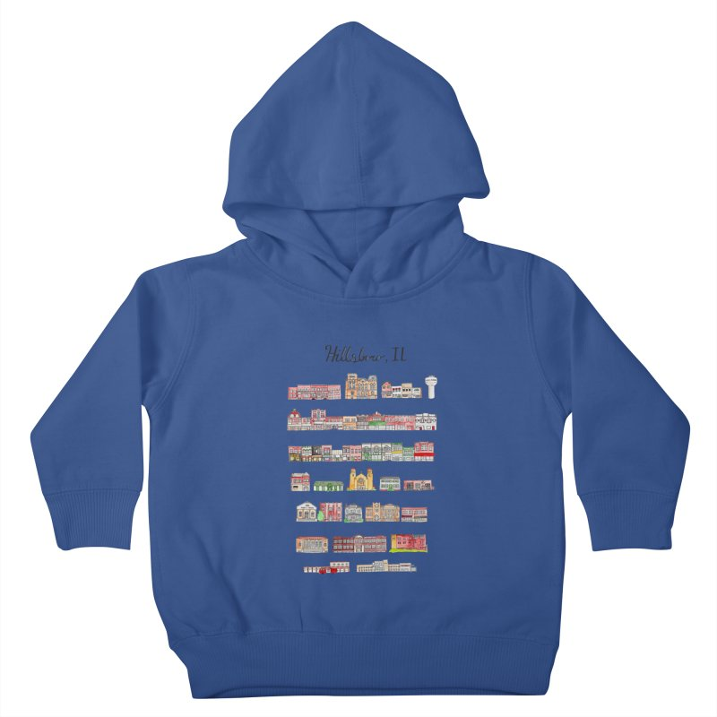 Hillsboro Illinois Kids Toddler Pullover Hoody by Jodilynn Doodles's Artist Shop