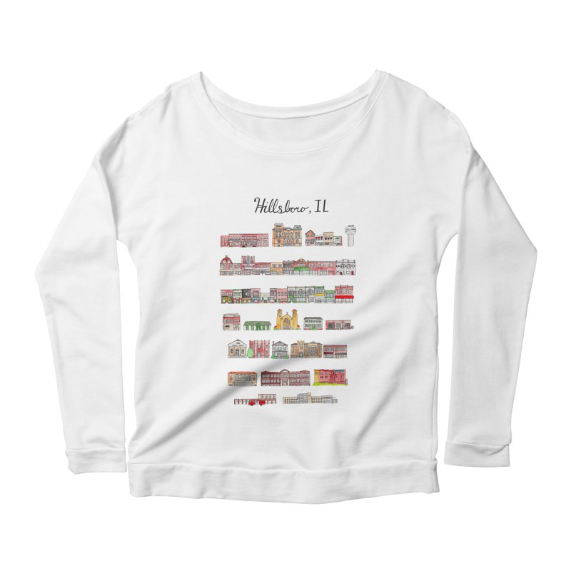 Hillsboro Illinois Women's Scoop Neck Longsleeve T-Shirt by jodilynndoodles's Artist Shop