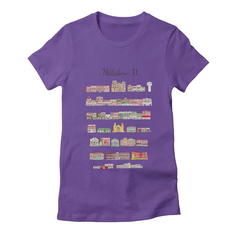 Hillsboro Illinois Women's Fitted T-Shirt by Jodilynn Doodles's Artist Shop