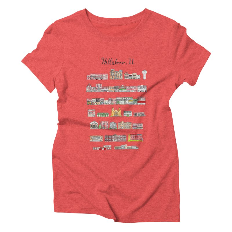 Hillsboro Illinois Women's Triblend T-Shirt by Jodilynn Doodles's Artist Shop