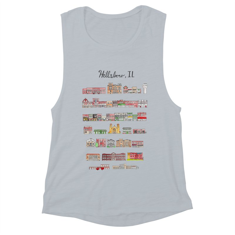 Hillsboro Illinois Women's Muscle Tank by Jodilynn Doodles's Artist Shop