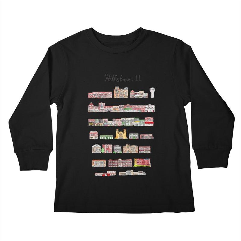 Hillsboro Illinois Kids Longsleeve T-Shirt by Jodilynn Doodles's Artist Shop