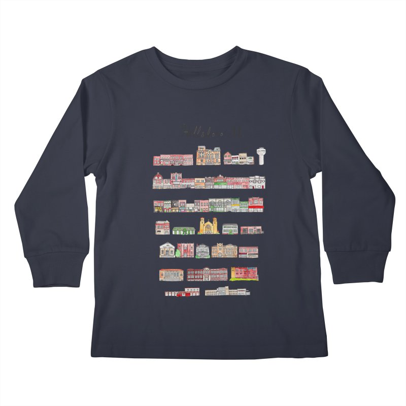Hillsboro Illinois Kids Longsleeve T-Shirt by jodilynndoodles's Artist Shop