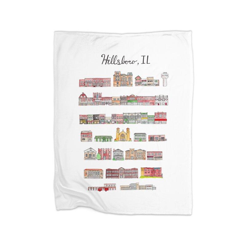 Hillsboro Illinois Home Blanket by jodilynndoodles's Artist Shop