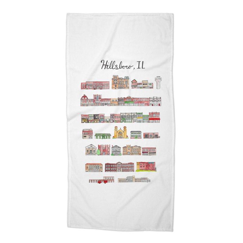 Hillsboro Illinois Accessories Beach Towel by Jodilynn Doodles's Artist Shop