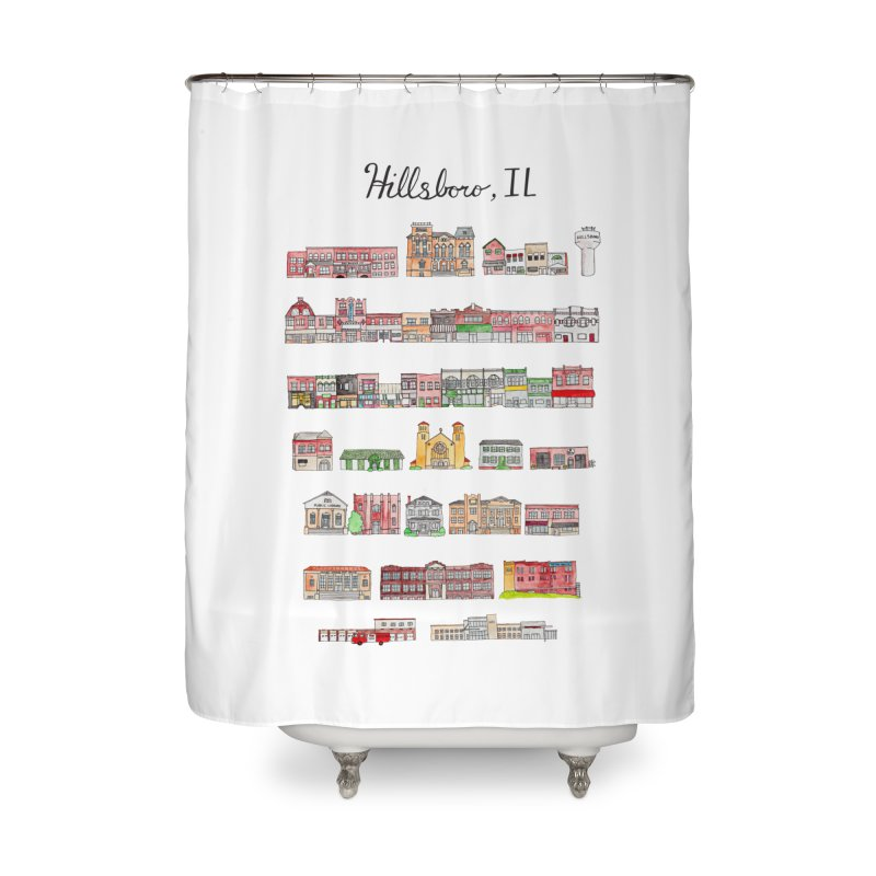 Hillsboro Illinois Home Shower Curtain by jodilynndoodles's Artist Shop