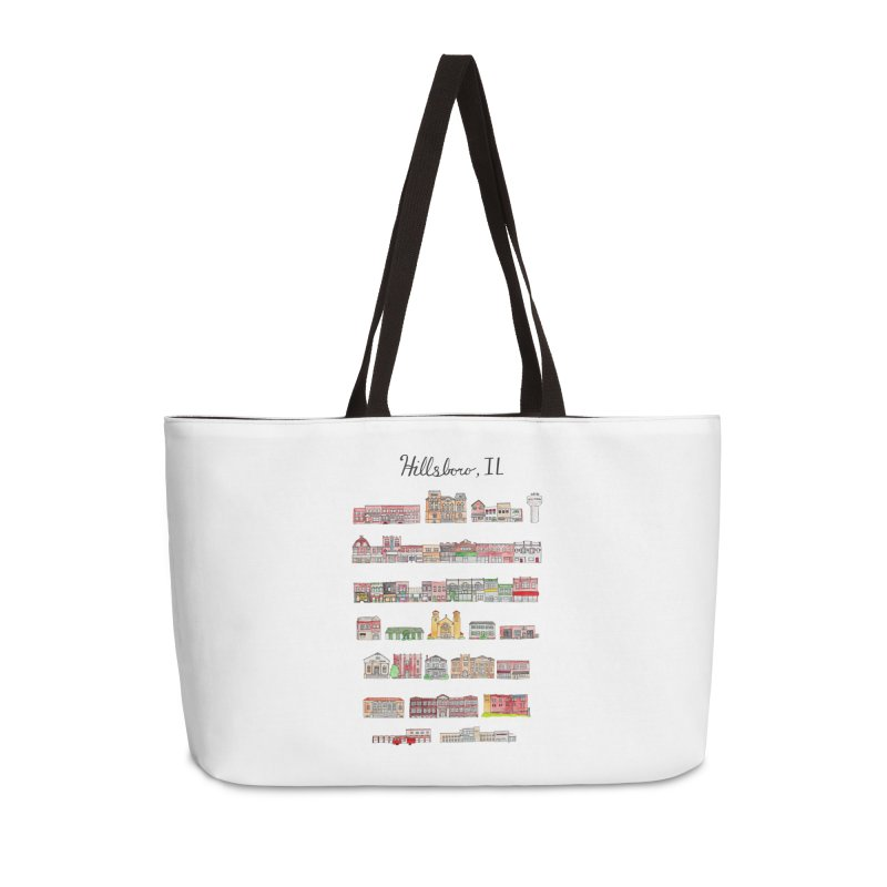 Hillsboro Illinois Accessories Weekender Bag Bag by Jodilynn Doodles's Artist Shop