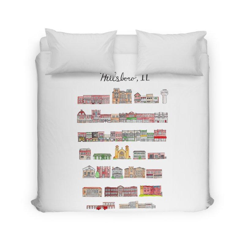 Hillsboro Illinois Home Duvet by Jodilynn Doodles's Artist Shop