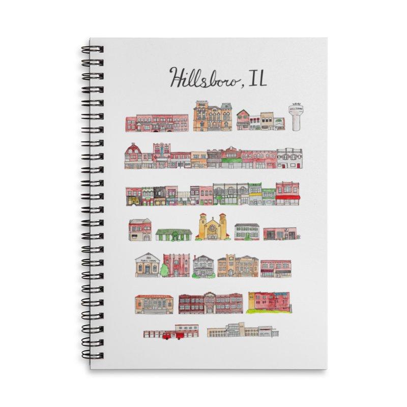 Hillsboro Illinois Accessories Lined Spiral Notebook by Jodilynn Doodles's Artist Shop