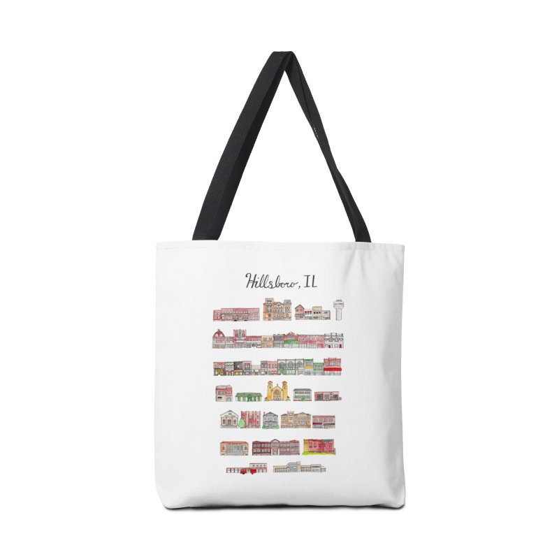 Hillsboro Illinois Accessories Tote Bag Bag by Jodilynn Doodles's Artist Shop