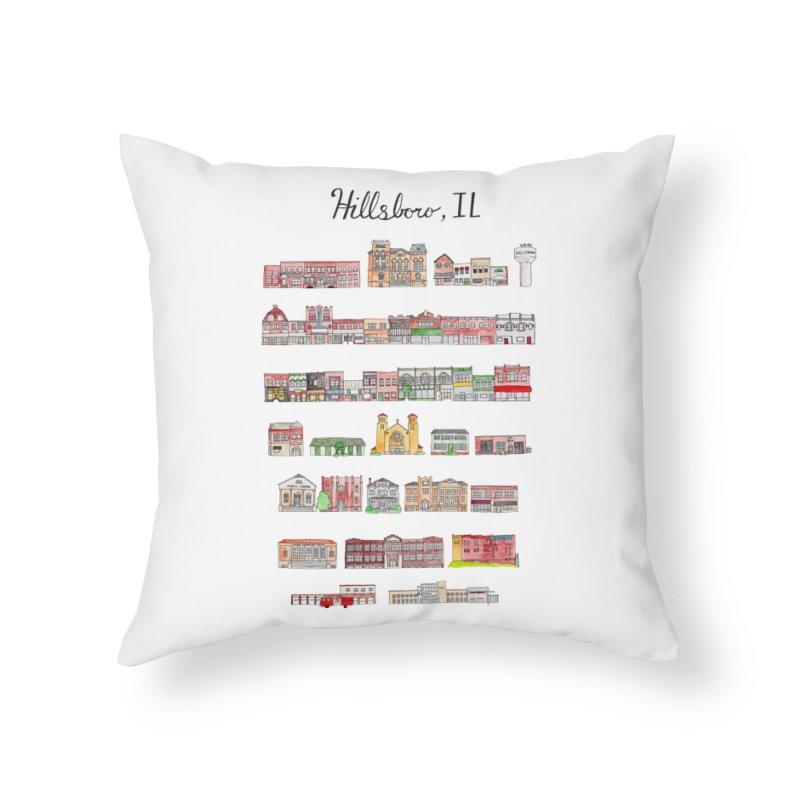 Hillsboro Illinois Home Throw Pillow by Jodilynn Doodles's Artist Shop
