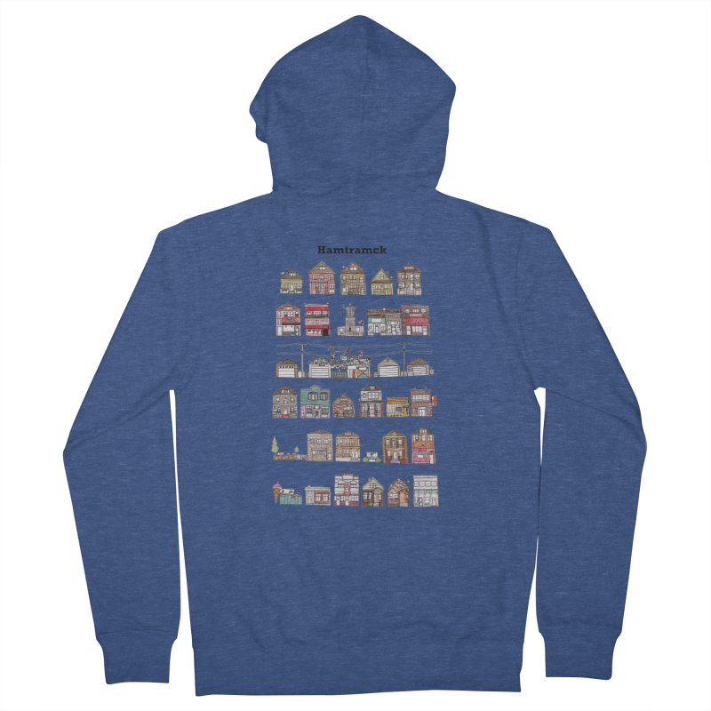 City of Hamtramck Women's French Terry Zip-Up Hoody by Jodilynn Doodles's Artist Shop