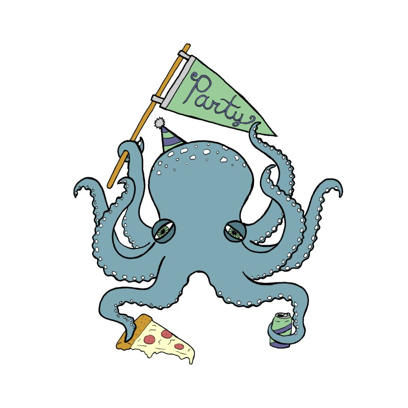 Party Octopus by jodilynndoodles's Artist Shop