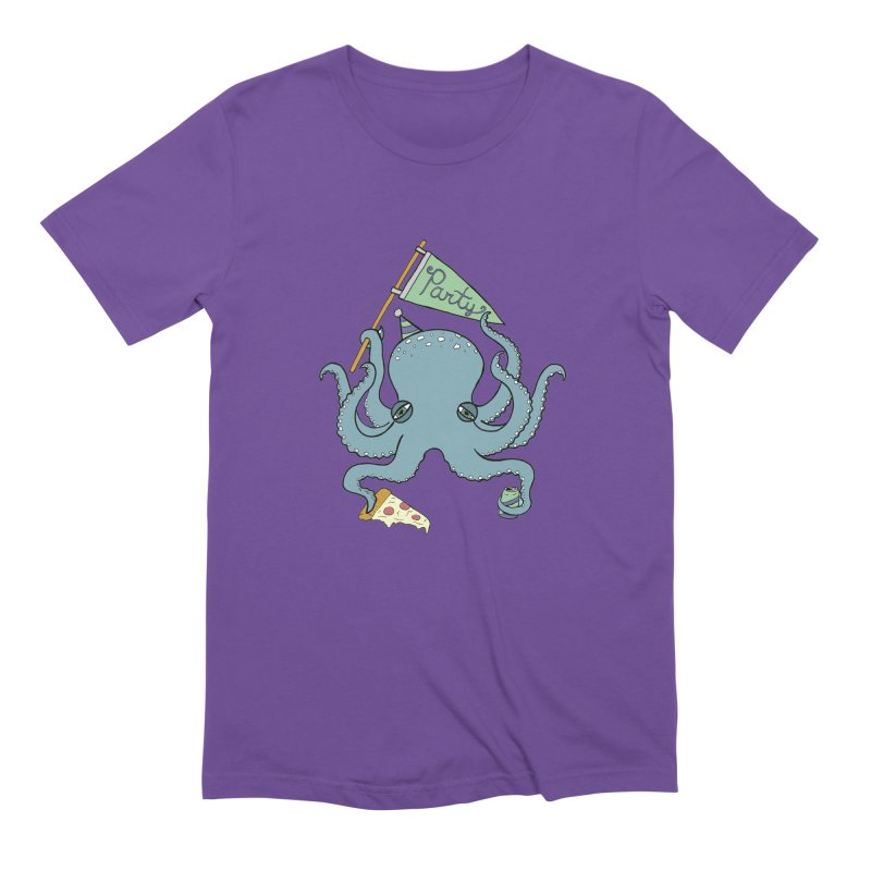 Party Octopus Men's Extra Soft T-Shirt by jodilynndoodles's Artist Shop
