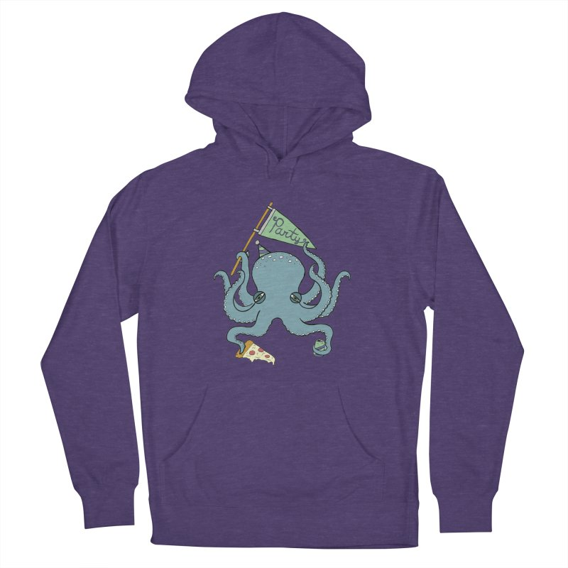 Party Octopus Women's French Terry Pullover Hoody by Jodilynn Doodles's Artist Shop