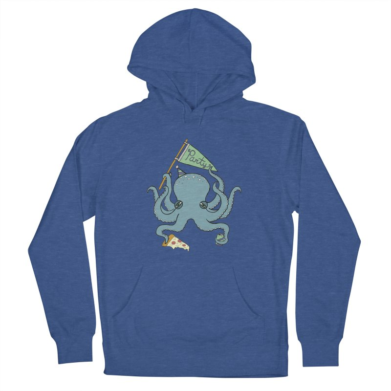 Party Octopus Men's French Terry Pullover Hoody by jodilynndoodles's Artist Shop