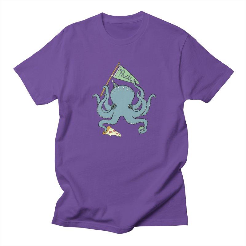 Party Octopus Men's Regular T-Shirt by Jodilynn Doodles's Artist Shop