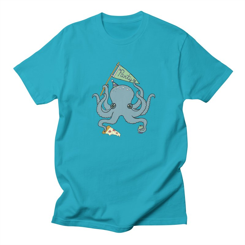 Party Octopus Men's Regular T-Shirt by jodilynndoodles's Artist Shop