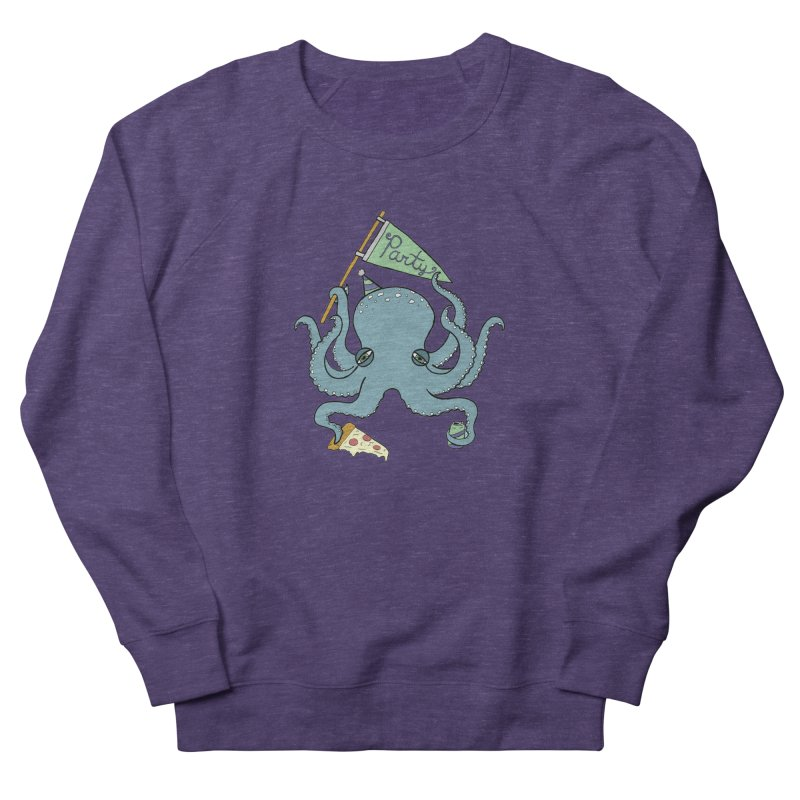 Party Octopus Women's French Terry Sweatshirt by jodilynndoodles's Artist Shop