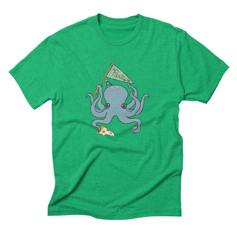 Party Octopus Men's Triblend T-Shirt by Jodilynn Doodles's Artist Shop