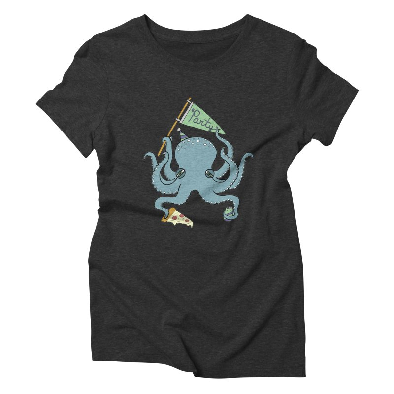 Party Octopus Women's Triblend T-Shirt by jodilynndoodles's Artist Shop