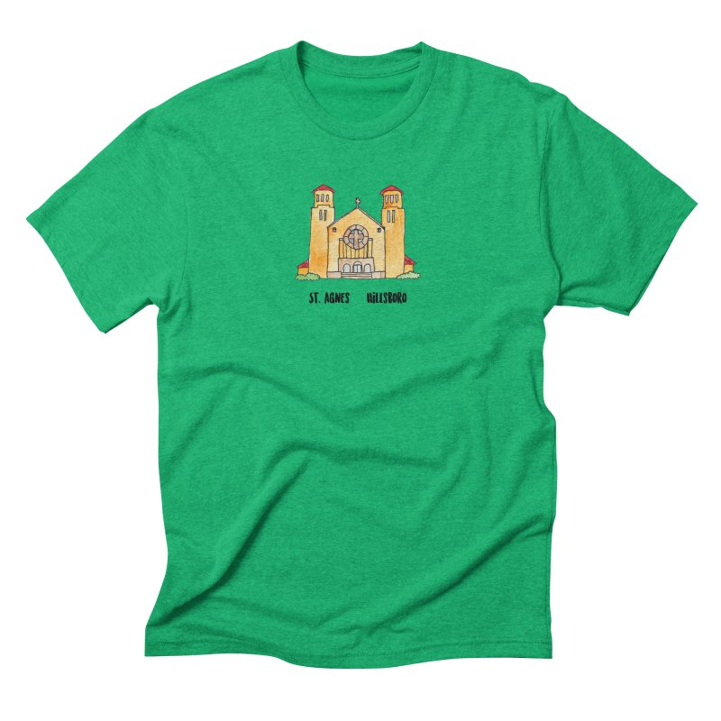 St Agnes Hillsboro Men's Triblend T-Shirt by Jodilynn Doodles's Artist Shop